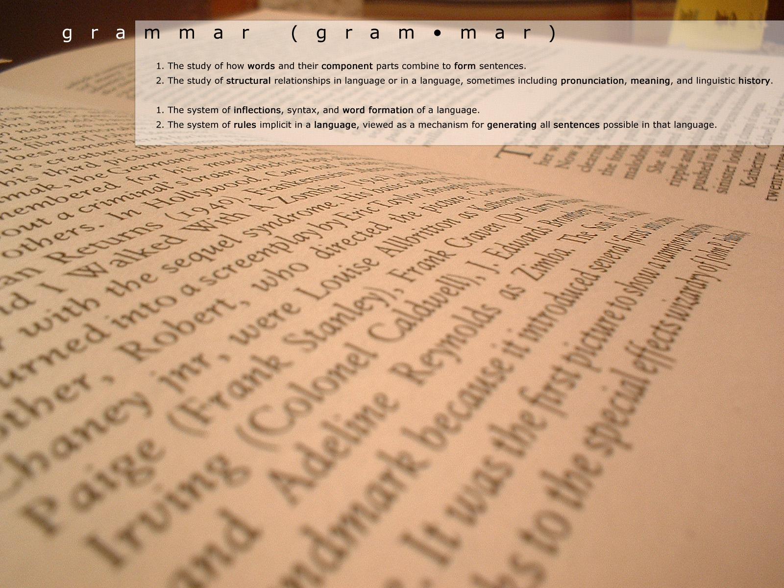 Grammar by redbandana
