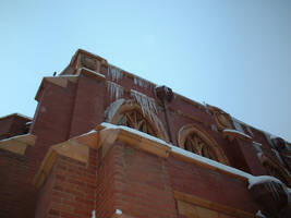 Icicles on the Church by redbandana