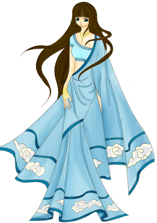 Indian Dress - Wind by SomethingMinty on DeviantArt