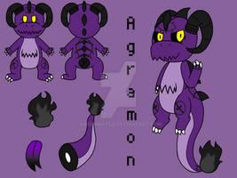 Agramon the Demon Charmander by Karenmatsu