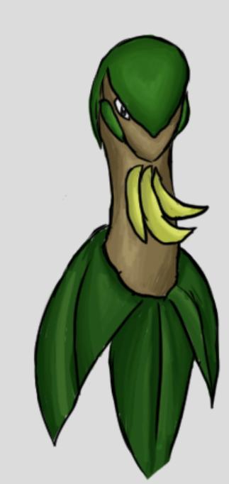 Banana Dinosaur by SapphirexBlue