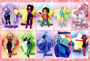 Steven Universe Badges by TheMaskedHomie
