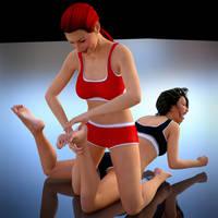 Tickle Wrestling: Round 1 by Threedimaxofmymind