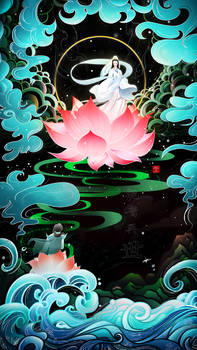 The rebirth of Guan Yin  - Illustration