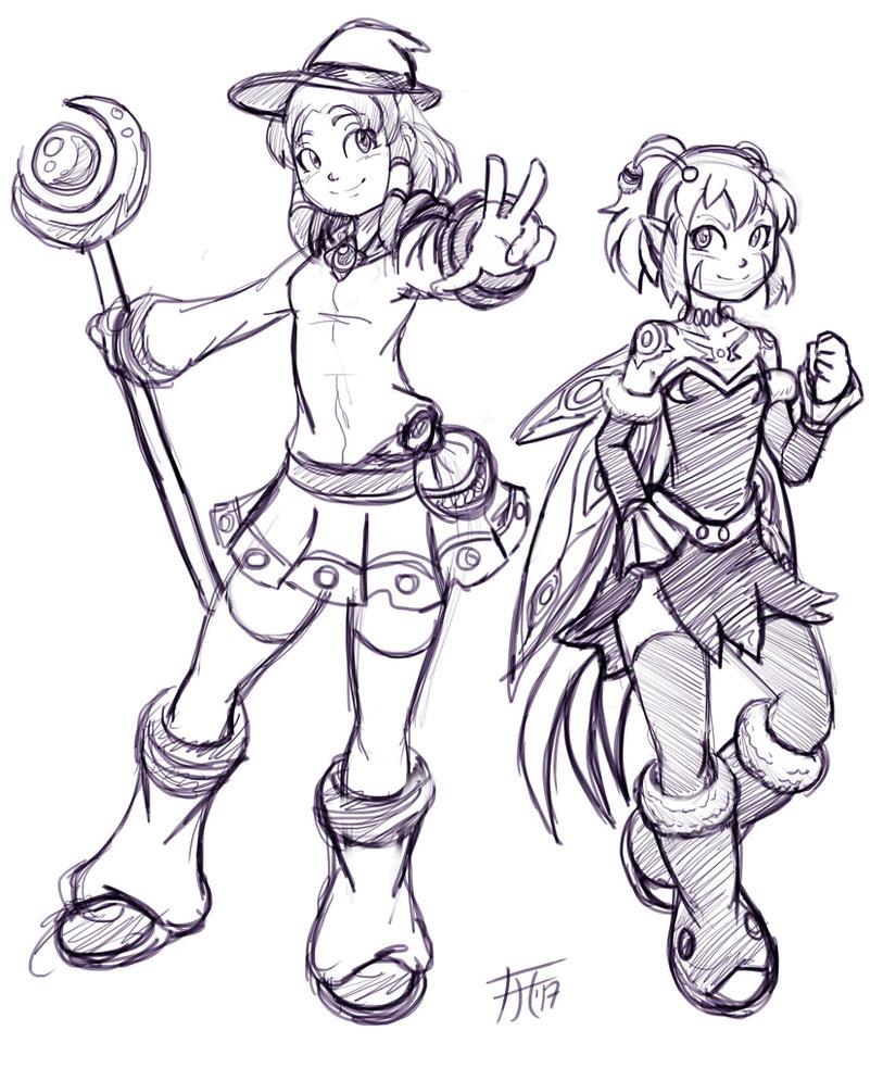 Kyra and Zeranna by Fenril-Huayra