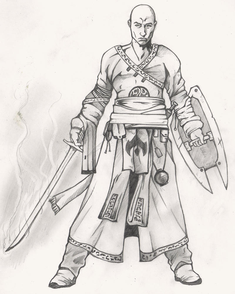 Warrior Monk Concept Art by Christopher-Stoll
