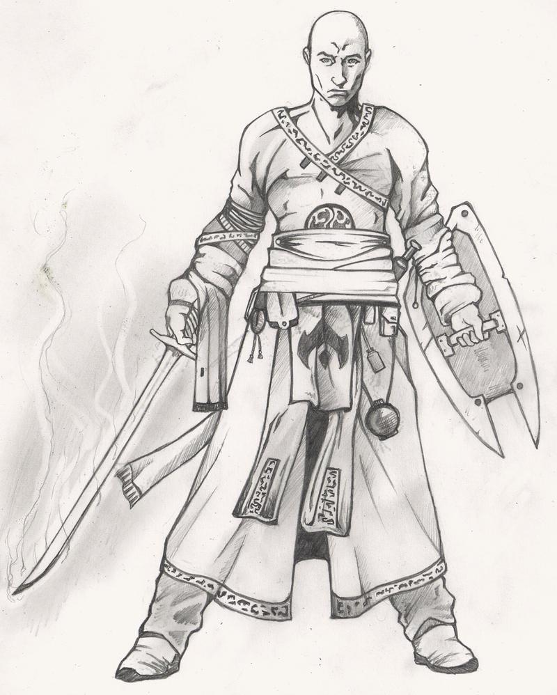 Warrior Monk Concept Art By Christopher Stoll On Deviantart