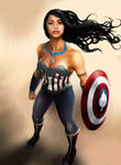 Princess Avengers: CAPTAIN AMERICA