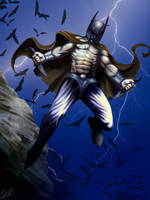 Primal Batman by Christopher-Stoll