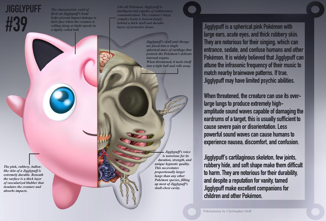 プリン(英語表記:ジグリーパフ) : 【衝撃】ポケモンを解剖するとこう