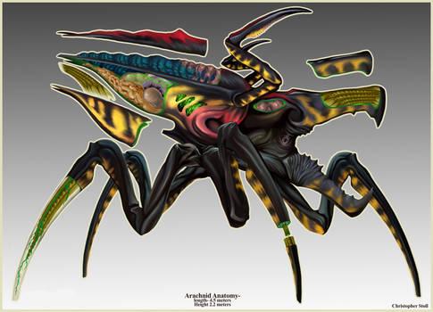 Starship Trooper Arachnid Warrior Deconstruction