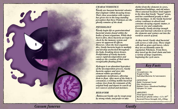 Gastly Anatomy- Pokedex Entry