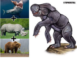 Creature Design Combo- Bear, Rhino, Shark