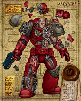 Astartes Armor - 40K Blood Raven Blueprint