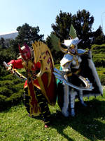 Spellbreaker and Maiev Shadowsong cosplay by Ivanitko