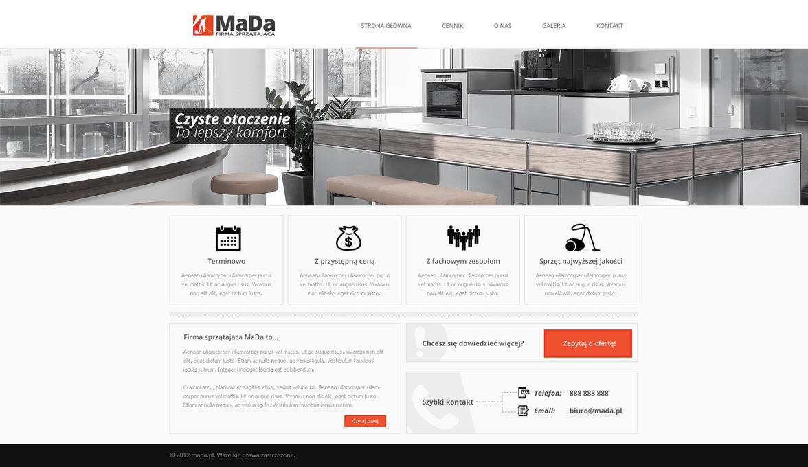 Layout for cleaning company by bialymis