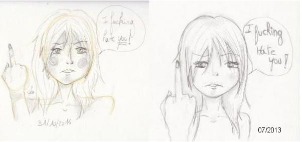 Draw it again - I fucking hate you ! by KetsuekiHime