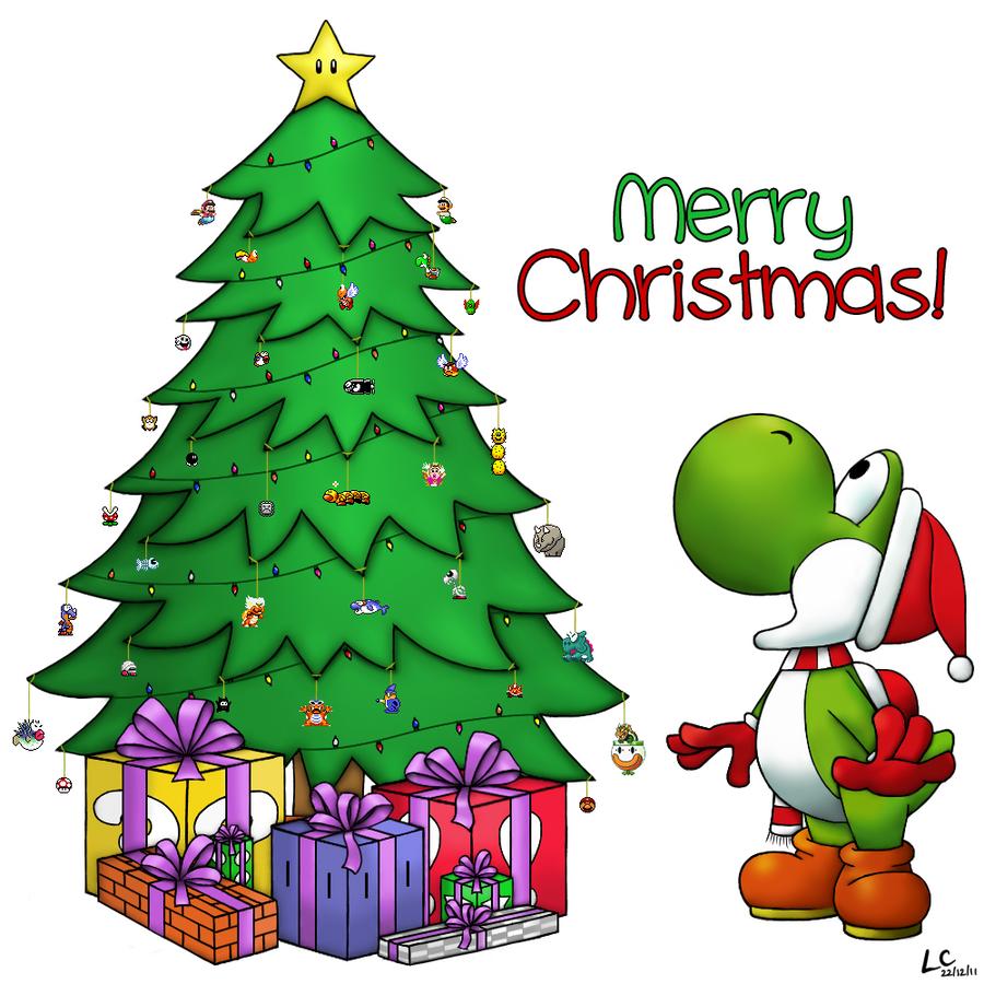 Group of Nintendo Images Christmas Yoshi