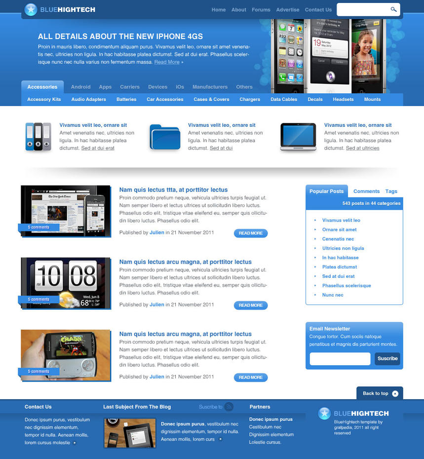 Blue Hightech - tutorial by Grafpedia