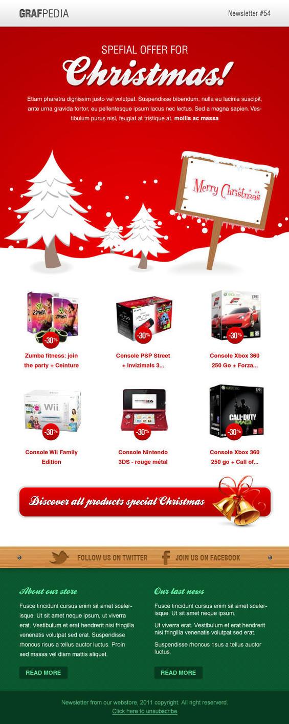 christmas email template by grafpedia on deviantart. Black Bedroom Furniture Sets. Home Design Ideas
