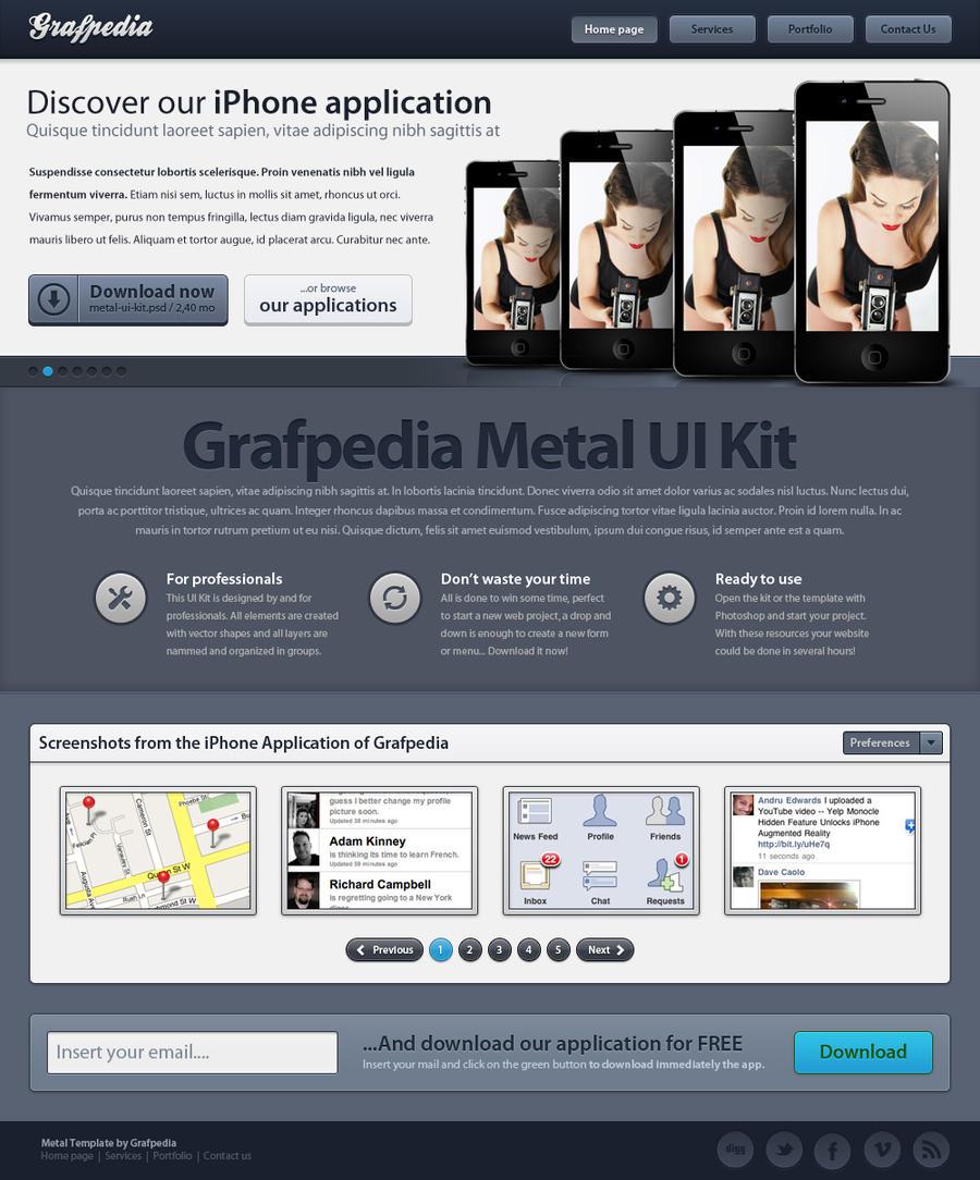 Metal Template by Grafpedia