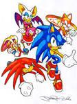 Colourful Sonic Fanart Ahoy