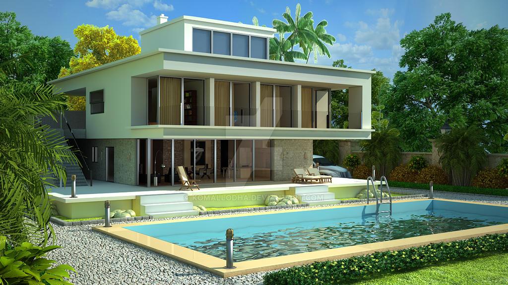 exterior-villa by komallodha