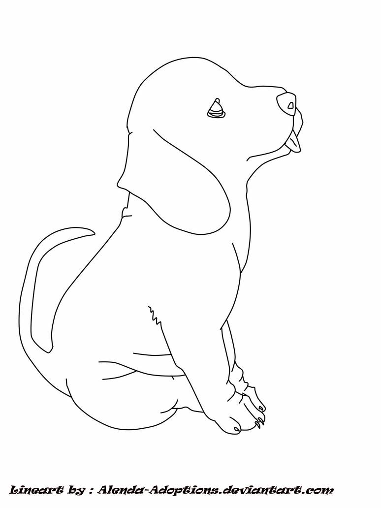 Line Art Dog : Free dog lineart by alenda adoptions on deviantart