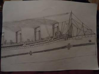 HMHS Britannic by ArtLover324