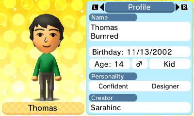 Thomas Tomodachi Life by MonsterHighFan2003