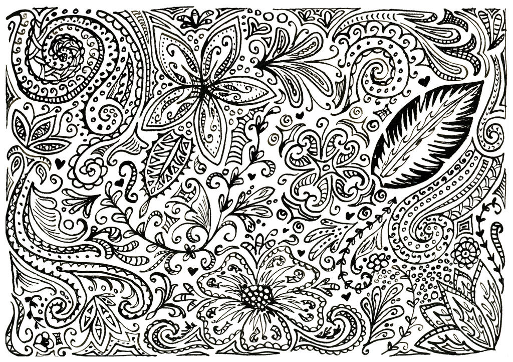 Floral Pattern by PixiRivets