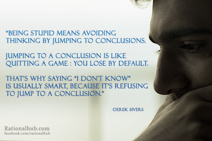 Jumping To Conclusions Quotes Captivating Jumping To Conclusionsrationalhub On Deviantart