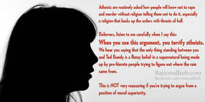 On theists who question atheist morality...