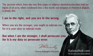 Macaulay on Religious bigotry
