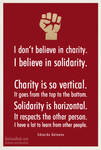 I don't believe in Charity...