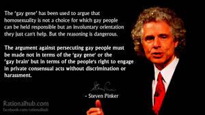 Steven Pinker on the 'Gay Gene'... by rationalhub