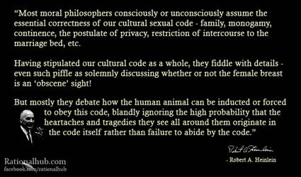 Robert Heinlein on cultural sexual code.. by rationalhub