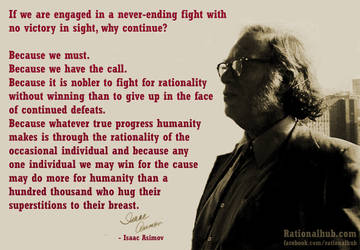 Isaac Asimov on being rationalists.. by rationalhub