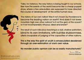 Emma Goldman on nationalist indoctrination.. by rationalhub
