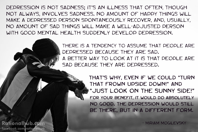 Depression is not sadness.. by rationalhub