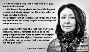 Maryam Namazie on respecting religious beliefs..