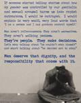 On rape apologism and victim blaming..