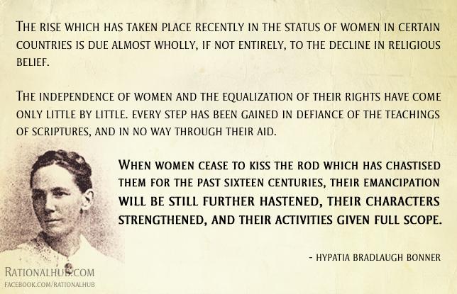 Hypatia Bradlaugh Bonner on religion.. by rationalhub