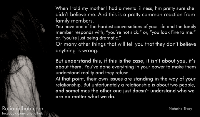 Hurt By Family Members Quotes: Mental Illness Denialism By Family Members.. By