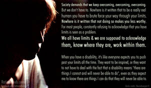 On overcoming disability..
