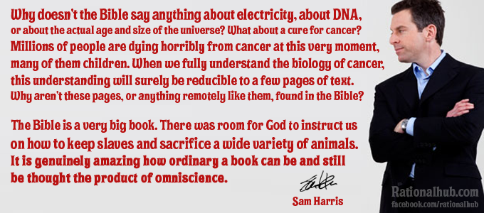 Sam Harris on divinity of the Bible.. by rationalhub