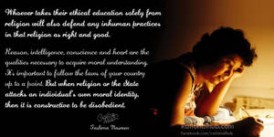 Taslima Nasreen on morality and disobedience.. by rationalhub