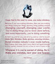 Happy New Year - Neil Gaiman by rationalhub