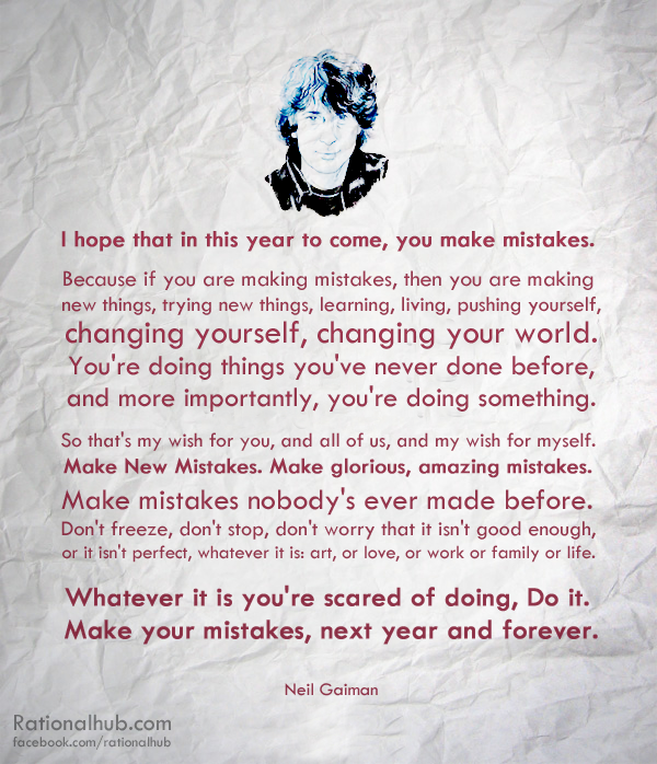 Happy New Year - Neil Gaiman by rationalhub on DeviantArt