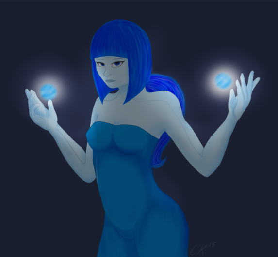Blue Lady Remark by JustCarolineKlein
